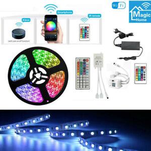 10m 20m 5050 SMD RGB LED Stripe Leiste Streifen Band WiFi APP Controller Trafo