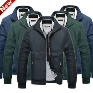 Mens-Jacket-Summer-Lightweight-Bomber-Coat-Casual-Outfit-Tops-Outerwear-Clothing