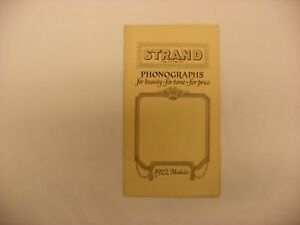 Original Strand Phonograph Catalog Pamphlet Kansas City MO 1922