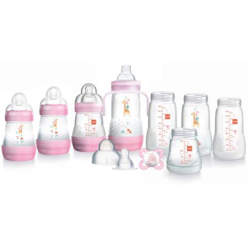 MAM Self-Sterilising Baby Feeding Starter Set Anti Colic Milk Bottles Kit 11Pcs
