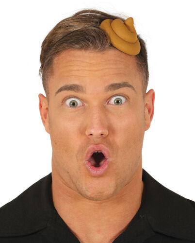 Novelty Sh*t Head Cow Pat Head Band Turd Joke Gift Hat Funny Fancy Dress Poo