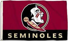 Florida State Seminoles 3' x 5' Flag (Logo w/ Wordmark) NCAA Licensed