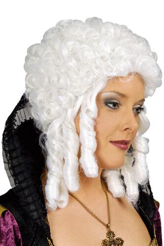 Parrucca Barocco Lungo Capelli Donna Medioevo Rokoko Marquise baronessa Costume Abito
