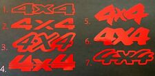 2 RED 4X4 DECAL STICKER FORD F-150 CHEVY SILVERADO DODGE RAM TOYOTA TACOMA 4WD