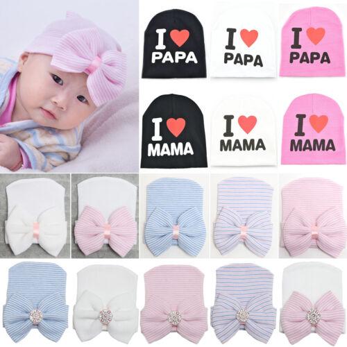 Baby Beanie Strickmütze Hüt Kappe Stirnband Junge Mädchen Weich Mützen Babymütze
