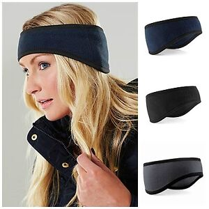 Fleece Headband Warm Hat Ear Muff Warmer Winter Ski Snowboard Mens ... daab006139a
