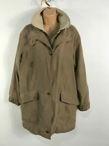 WOMENS-BHS-BEIGE-ZIP-BUTTON-UP-CASUAL-SOFTSHELL-MAC-COAT-JACKET-SIZE-UK-10