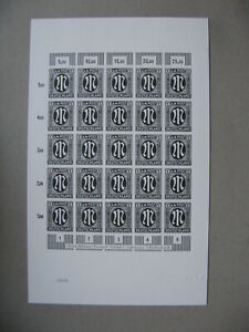 GERMANY-official-numbered-blackprint-Deutsche-Post-of-sheet-Am-Occ-1-Mark