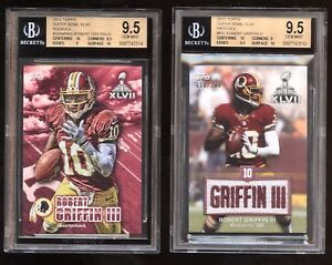 11055c555 2012 Topps SUPER BOWL XLVII PATCH Robert RG3 Griffin III RC! LOT BGS ...