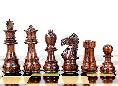 """Rosewood Galaxy Staunton Wooden Chess Set Pieces King size 3"""" Triple Weighted"""