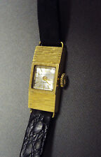 LOVELY VINTAGE 18K BUCHERER 17J LADIES WATCH w/case
