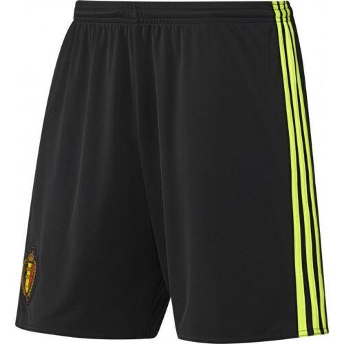 adidas KIDS BELGIUM HOME FOOTBALL SHORTS BLACK SOCCER BOYS GIRLS KBVB 7-16