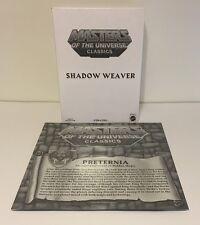 Masters of the Universe Classics Shadow Weaver W/ Preternia Map MOTUC New Sealed
