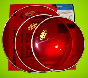 Evans Hydraulic Drum Head Pack : evans red hydraulic drum head pack 12 13 16 ebay ~ Russianpoet.info Haus und Dekorationen