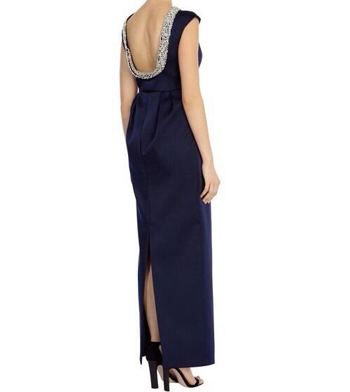 BNWTCOASTUK Size 8 Tarilla Maxi Maxi Maxi Navy Embellished Prom Gown DRESS New 024125