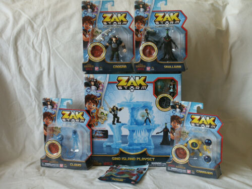Coin Pack NIB Zak Storm Lot of 6 Island Playset /& 4 Action Figures