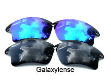 Galaxy Replacement Lenses For Oakley Fast Jacket XL Black&Blue Polarized 2Pairs