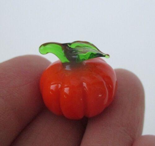 zzp PUMPKIN SEEDS OF THOUGHT miniature glass figurine grow joy unique Ganz fall