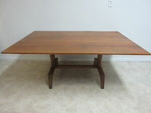 Vintage-Jamestown-Lounge-Oak-Mid-Century-Dining-Room-Banquet-Conference-Table