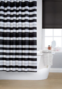 Image Is Loading Waterline Vibrant Jet Black Polyester Shower Curtain Including