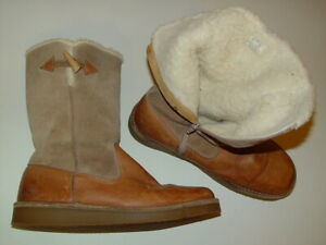 American-Eagle-Outfitters-Leather-Winter-Calf-High-Flat-Heel-Boots-10