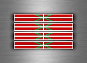 4x-Autocollant-sticker-voiture-moto-stripes-drapeau-tuning-basque-euskadi-pays