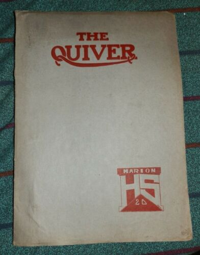 1920 Marion HARDING HIGH SCHOOL Marion Oh YEARBOOK Quiver Annual