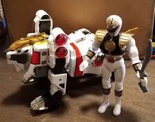 1994 Bandai Mighty Morphin Power Rangers White Tigerzord with White Ranger