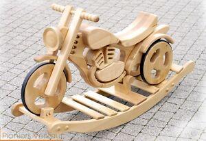 Moto à bascule Moto en bois Jouet à bascule Roue Jouet pour enfant Sprint
