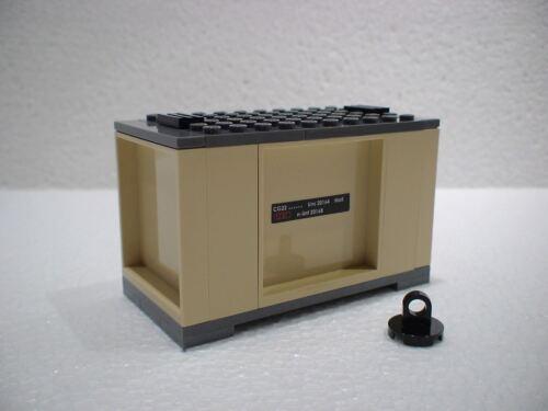 City 7939 NEU 5 LEGO® Eisenbahn Container beige  für 3677 7898 7938