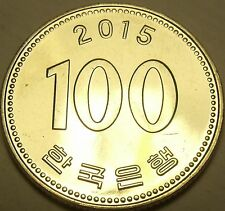 Gem Unc South Korea 2015 100 Won~Fantastic~Free Shipping
