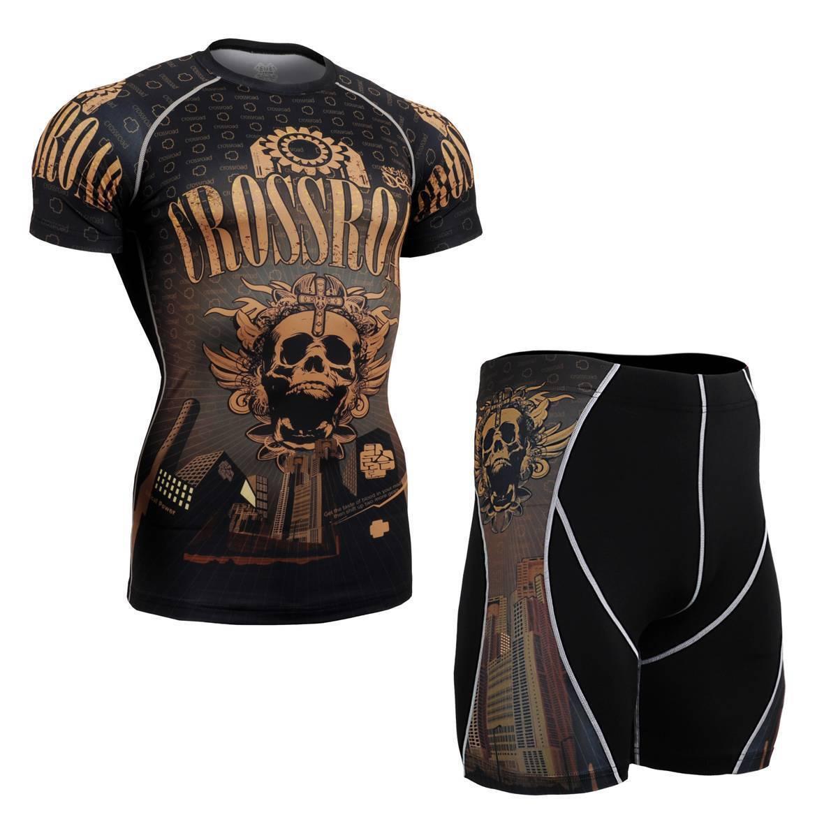 FIXGEAR CFS P2S-B27 SET Compression Shirts & Pants Skin Tights MMA Training Gym