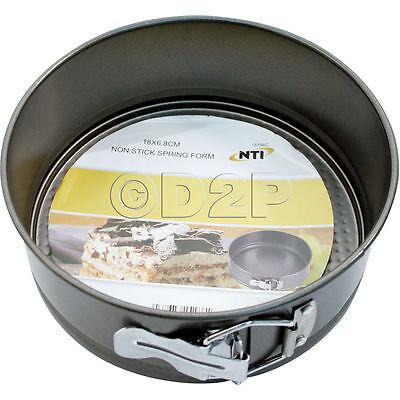 18 Cm Antiaderente Forma A Molla Profondo Rotondo Tortiera Cucinare Cottura Forno Biscotti Pan- Elegante Nell'Odore