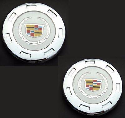 2x CADILLAC ESCALADE ESV EXT CHROME 7 SPOKE WHEEL 22 CENTER HUB CAP 9596649