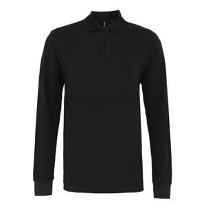 Asquith-amp-Fox-Mens-Classic-Fit-Long-Sleeved-Polo