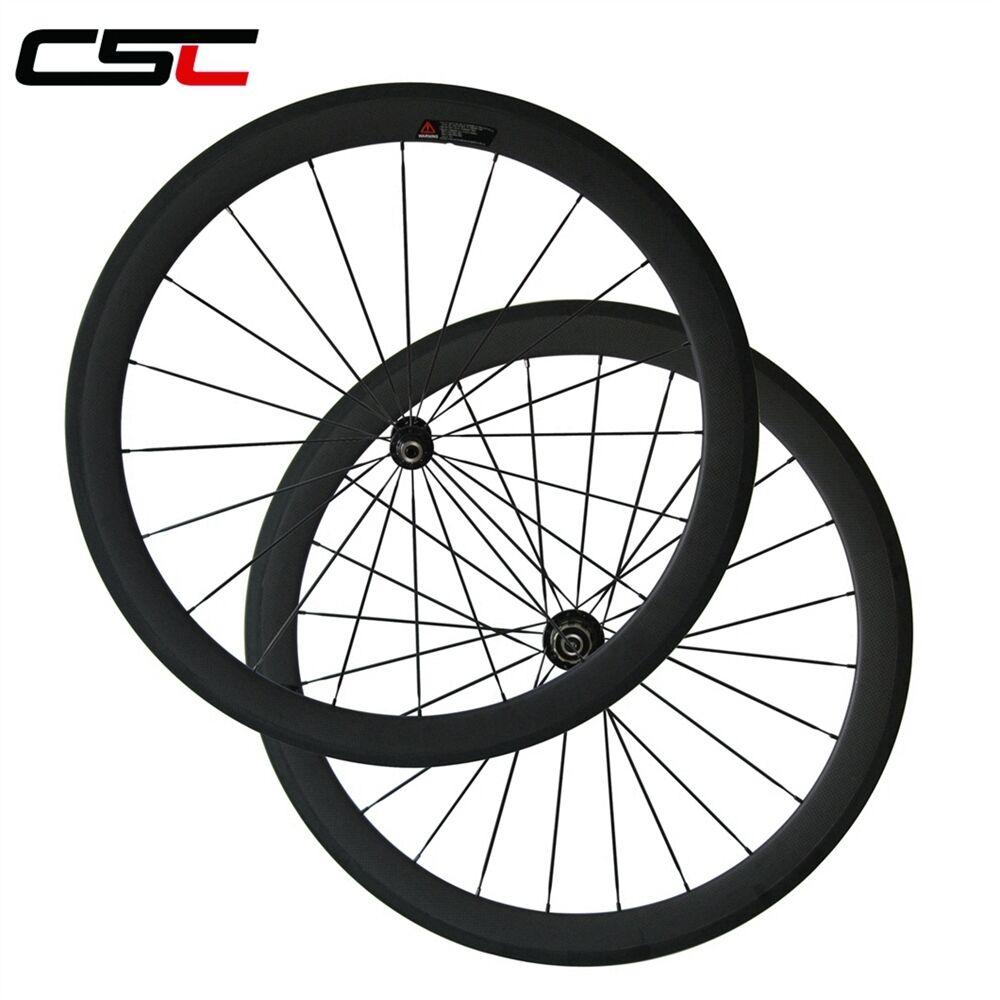 1540g  U Shape 25mm width 50mm Clincher carbon bicycle road SAT wheelset  excellent prices