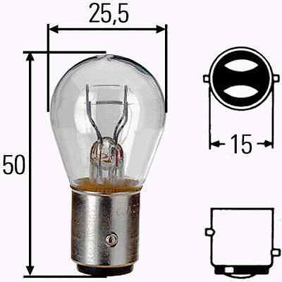 TWIN FILAMENT 2 x 380 P21//5W BAY15D BRAKE STOP TAIL LIGHT CAR BULBS 12V 21//5W
