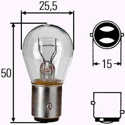 380 BRAKE LIGHT STOP TAIL CAR BULB PACK LAMPS DOUBLE TWO FILAMENT STRAIGHT 2 PIN