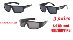 acd32b5802 Image is loading LOCS-LOT-SUNGLASSES-3-PAIRS-BEST-SELLERS-GANGSTER-