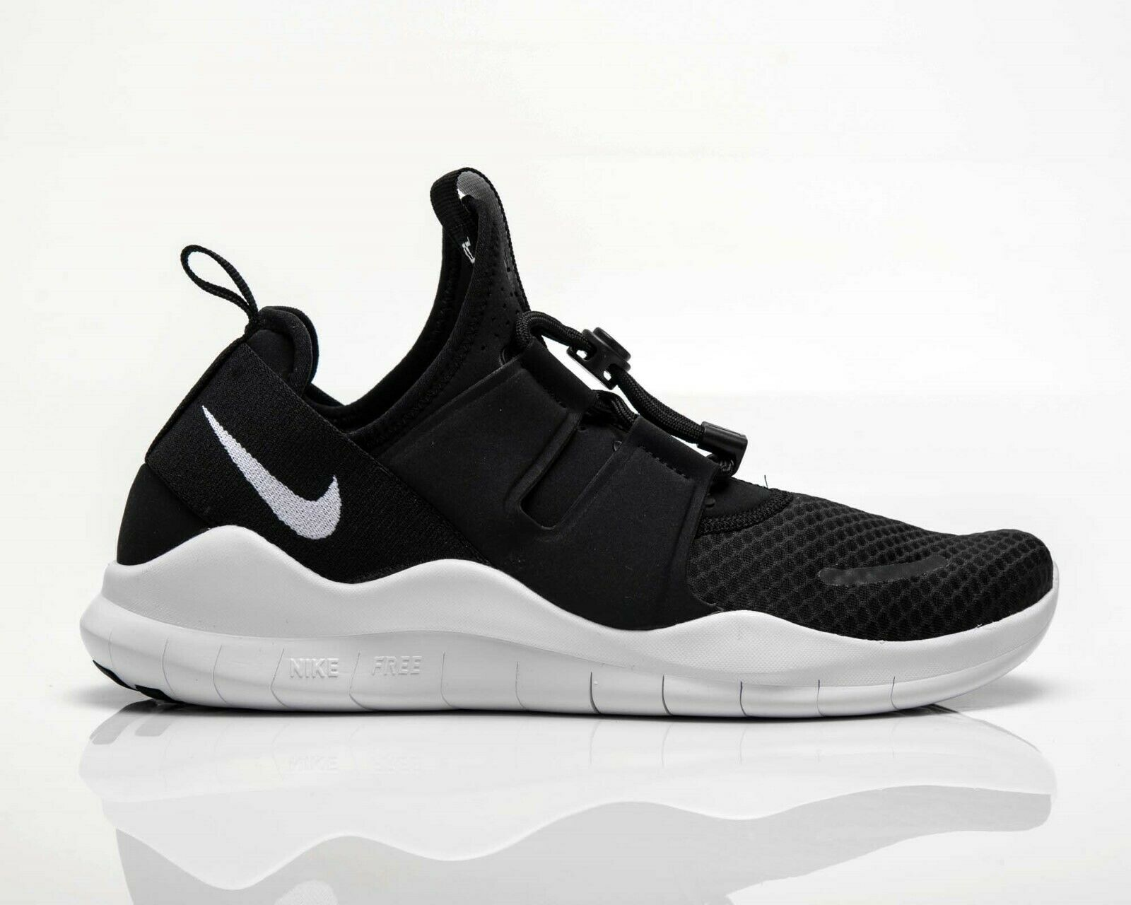 Nike Free RN Commuter 2018 Men' shoes. Black White.  AA1620-001.(NO BOX LID) NEW