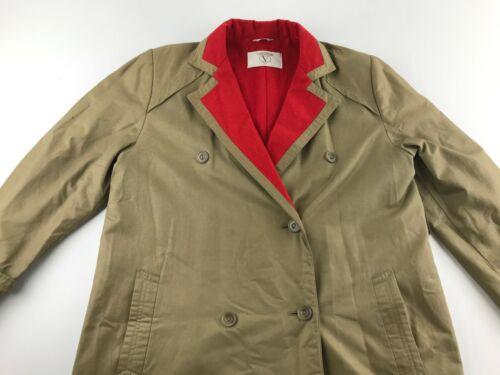 Vintage VALENTINO Rain women 10 Brown Jacket Trenc