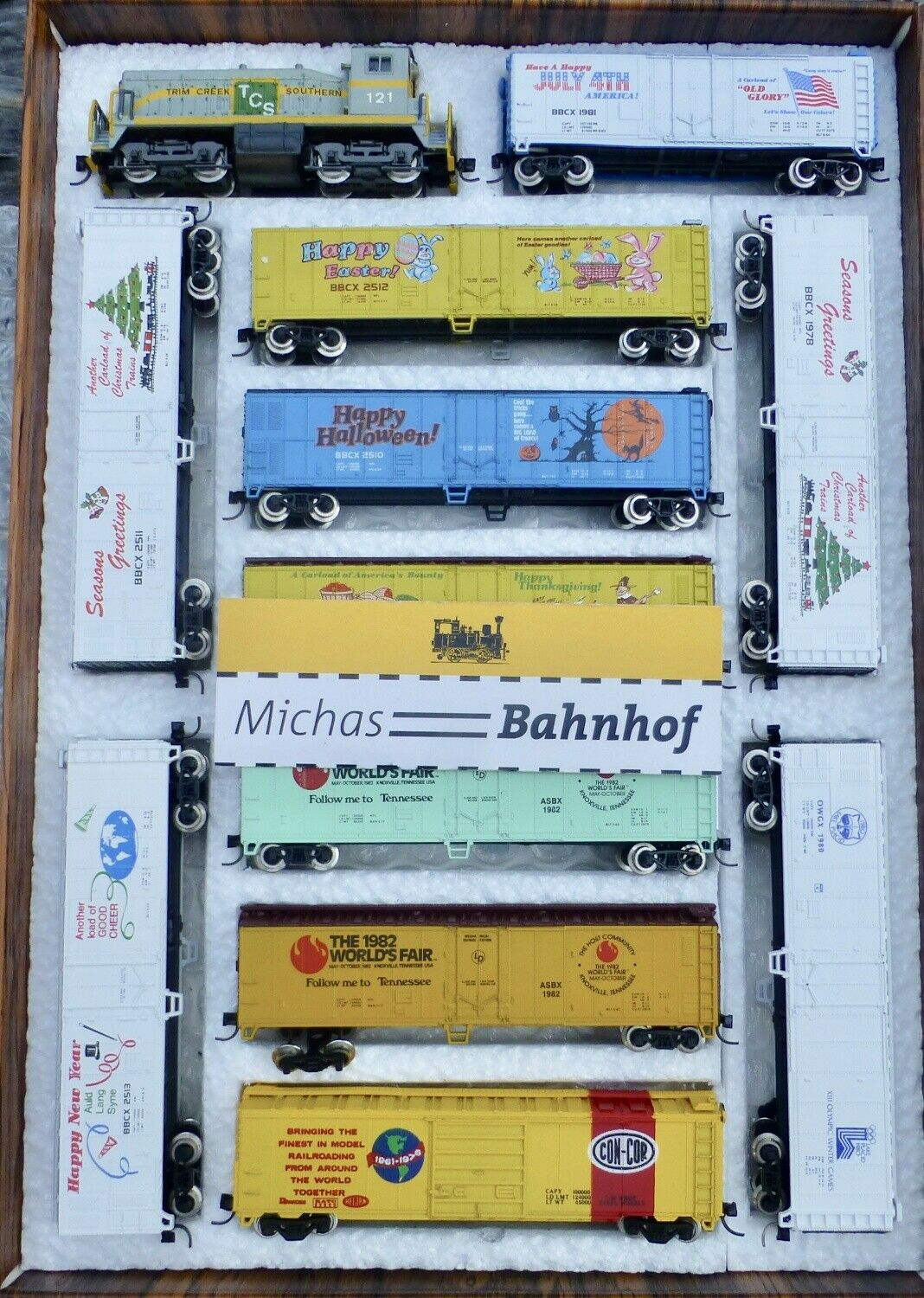 Color x Freight SW 1200 Trim creeks + 11 40' 50' Coches Rivarossi atlas zugset n 1