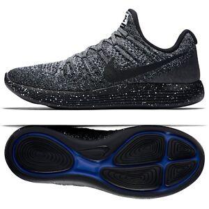 Details about Nike LunarEpic Low Flyknit 2 863779 041 BlackWhiteRacer Blue Men Running Shoes