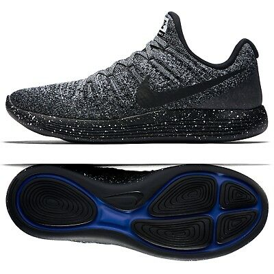 the best attitude 51922 0aacc Nike LunarEpic Low Flyknit 2 863779-041 Black/White/Racer Blue Men Running  Shoes | eBay