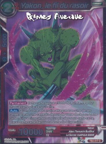 le Fil du Rasoir TB2-017 VF//C FOIL Dragon Ball Super Card Game Yakon
