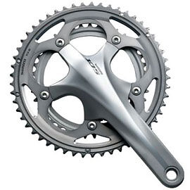 c512f06aa3e Image is loading Shimano-105-5700-10-Speed-Double-Chainset-Silver