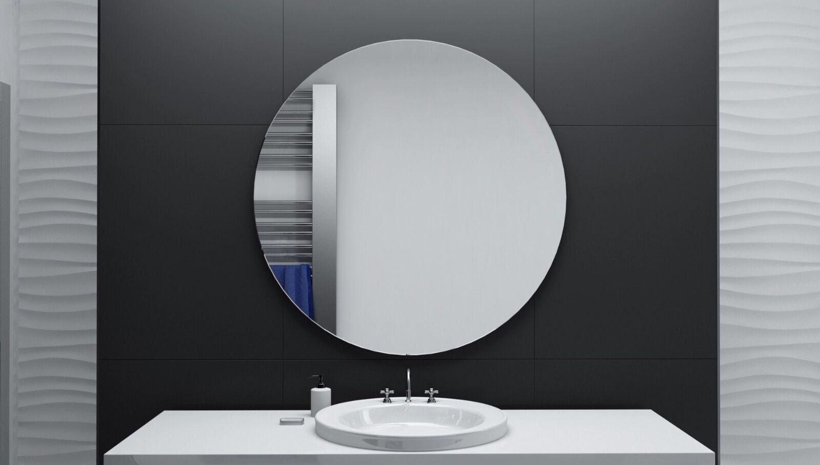 Kristallspiegel RUND 6mm Badspiegel Kristall Bad Spiegel Wandspiegel 1a Qualität