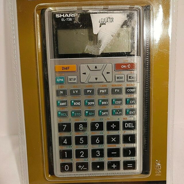 Sharp EL-738 Scientific Calculator Business & Financial Large Display & Keys b64