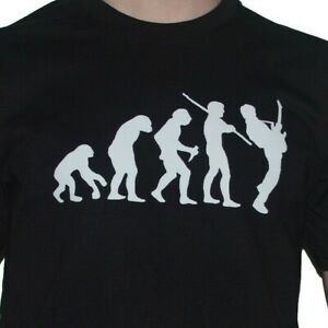 Guitar-T-Shirt-Evolution-Funny-Evolution-of-Man-to-Ape-Rock-Guitaring-Top