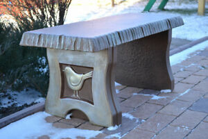 """Concrete mold Bench sold set 3 pcs garden benches top bench long 40"""" 2 legs B04"""